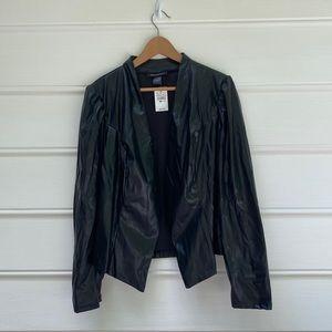 Ashley Stewart black cropped puff sleeve jacket 14